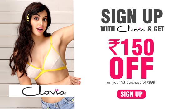 Hey Babe! I just discovered some amazing #underfashion. Here a coupon code JYKVL3 for you. You get Rs.300 OFF* on your first purchase worth Rs. 499 & above. Shop till you drop: www.clovia.com